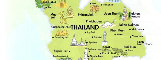 Thailand Holidays Thailand Info About Thailand Thailand Map - Map of thailand cities